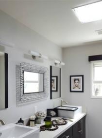 Bathroom with Square Diffuser